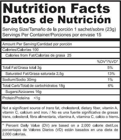 Tabla nutricional Tongkat Ali
