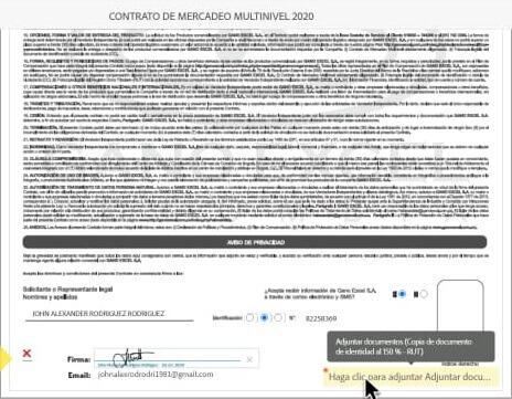 Adjuntar archivos anexos al formulario