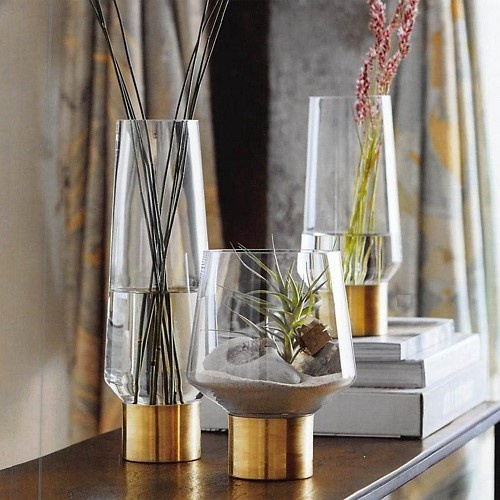 Room Decor   ADORN   Home   Lifestyle   Gifts in St  Croix  US     Brass Cuff Vase