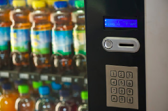 Vending machine with beverage service available