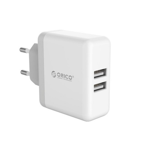 Orico 2 Port 5V 2.4A Each Port Wall Charger - White