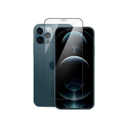 Mocoll 2.5D Tempered Glass Full Cover Screen Protector iPhone 12 12Pro - Black