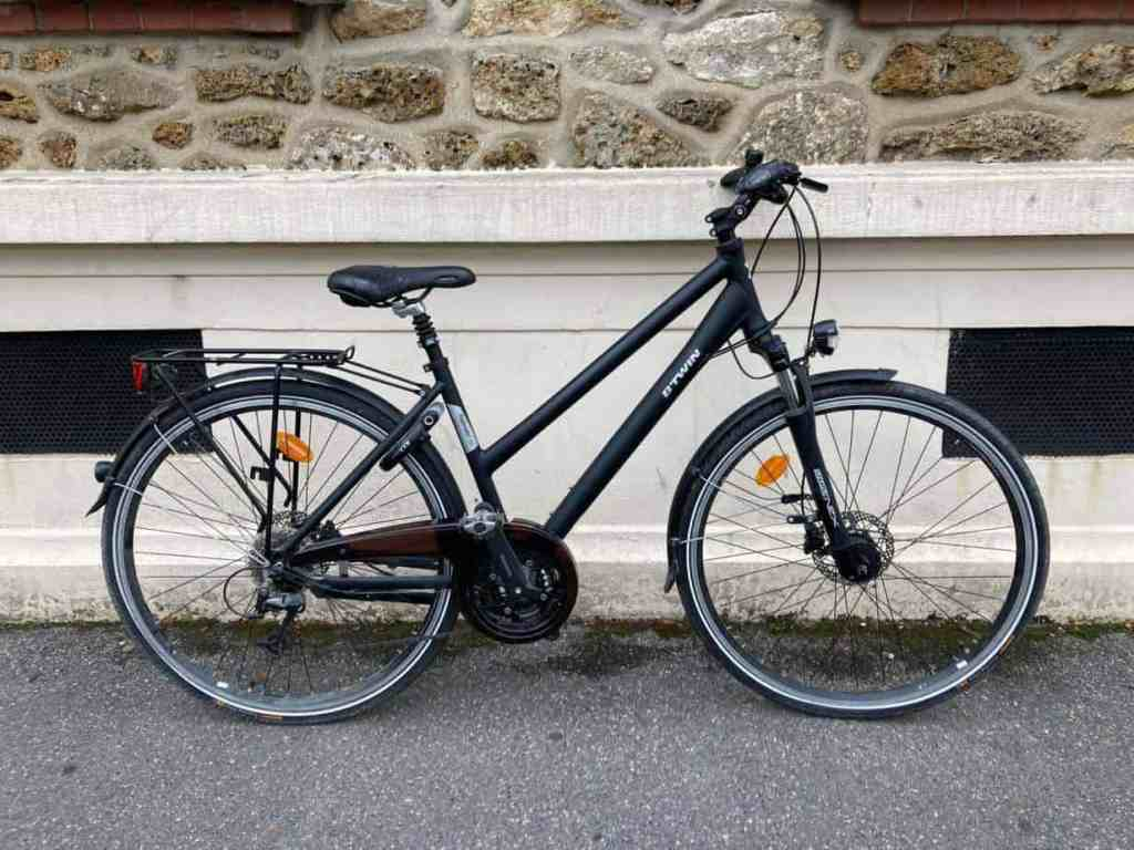 vélo de ville femme Btwin Hoprider 700 occasion 2017
