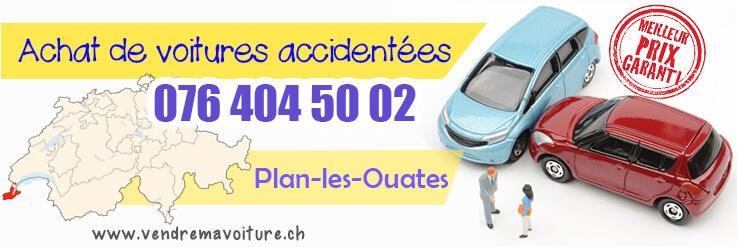 Vendre sa voiture accidentée à Plan-les-Ouates