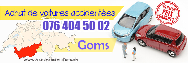 Vendre sa voiture accidentée à Goms