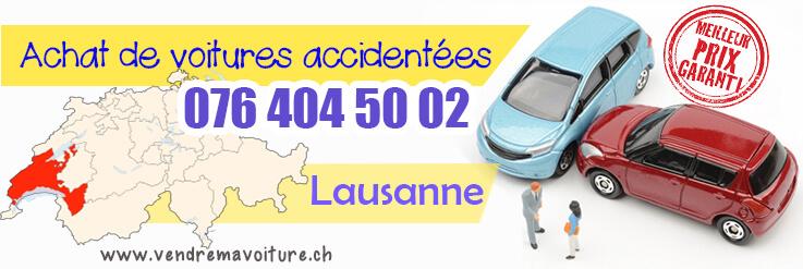 Vendre sa voiture accidentée à Lausanne