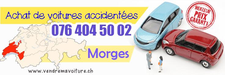 Vendre sa voiture accidentée à Morges