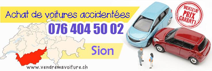 Reprise de voiture accidentée à Sion