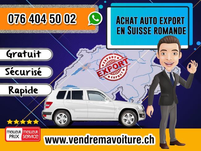 Achat auto export en Suisse romande