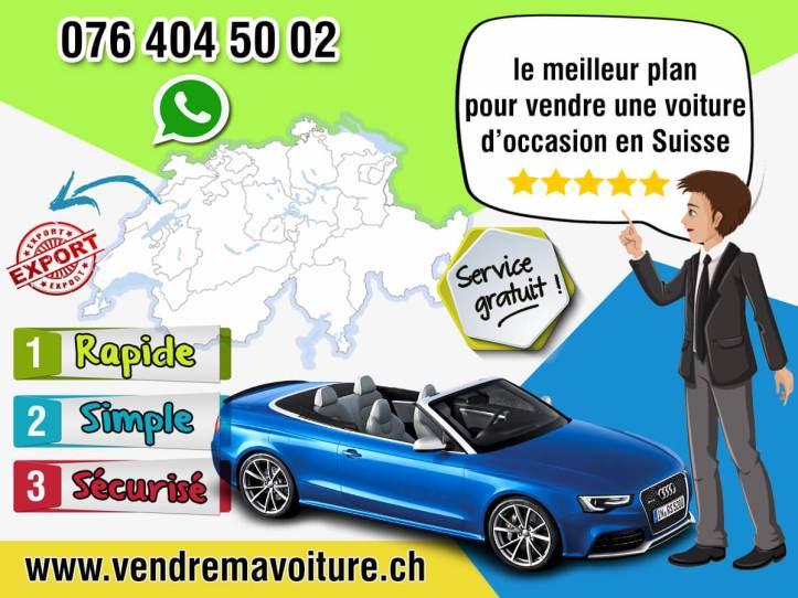 le meilleur plan pour vendre une voiture occasion en Suisse