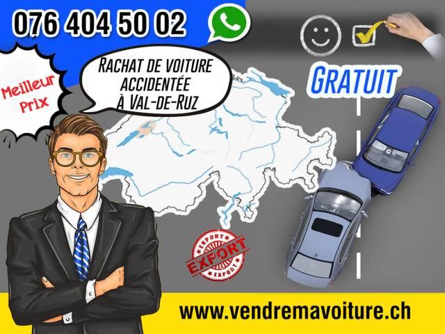 achat de voiture accidentée à Val-de-Ruz