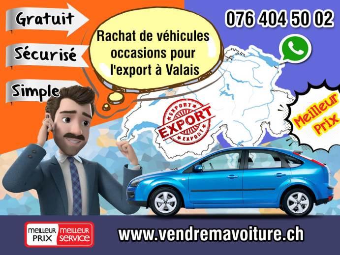 Rachat de véhicules occasions pour l'export à Valais