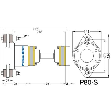 P80-S_mitat P80-S - Python-Drive -nivelyksikkö