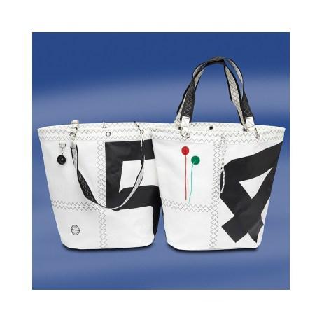 Trend Marine Sea Girl ostoslaukku Valkoinen/Musta. Purjekangas laukku