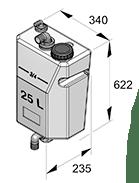 Septtitankki-septisäiliö 25 litraa