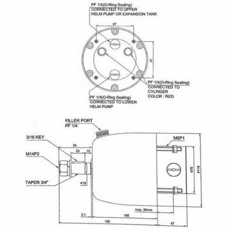 Perämoottorin hydrauliohjaus