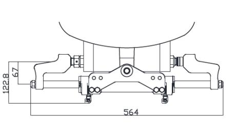 perämoottorin hydraulisylinteri