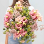 Eustoma Mix Peachy Flower, Venera Flowers, online flower delivery dubai