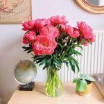 Peony Red Vase 9 Flower, Venera Flowers, online flower delivery dubai