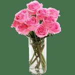 Rose Pink 10 Flower, Venera Flowers, online flower delivery dubai
