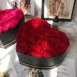 Rose Red Heart Box Flower, Venera Flowers, online flower delivery dubai
