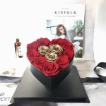 Rose Red Heart small Box Flower, Venera Flowers, online flower delivery dubai