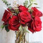 Rose Red Vase 7 Flower, Venera Flowers, online flower delivery dubai