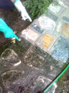 come lavare pavimento da esterni prima e dopo Lonigo ,Vicenza