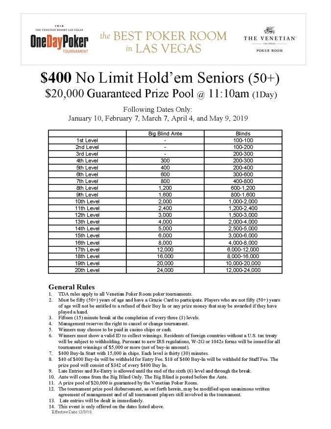 $400 NL Seniors