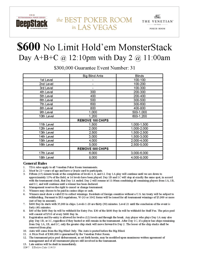 NYE $600 NL MonsterStack
