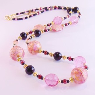Collana Lumiere lunga Black Rosa