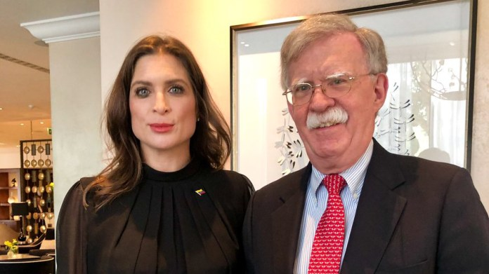 Vanessa Neumann is pictured with disgraced Trump advisor John Bolton in Aug, 2019. (@vanessaneumann)