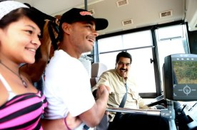 Nicolás Maduro en autobus