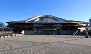東京オリンピック2020に向けて改装中の東京体育館