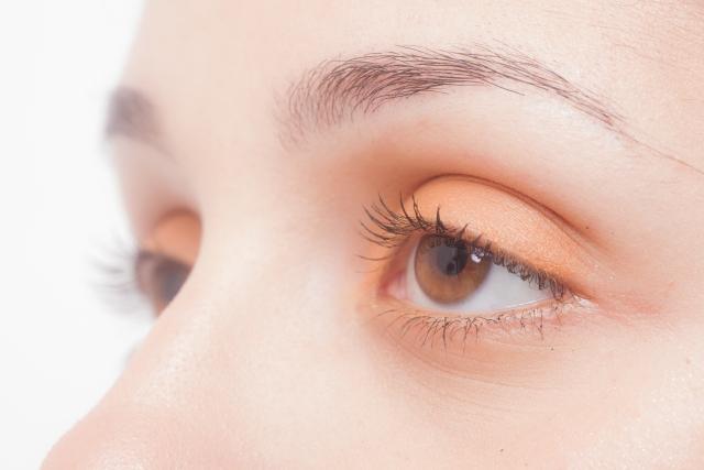 明るいブラウンの瞳