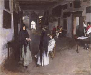 John Singer Sargent's A Venetian Interior (1880-82), view of the interior of the Palazzo Barbaro