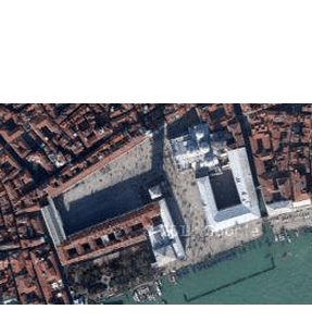 Google Earth view of the Palazzo Ducale and the St. Mark's Basilica complex