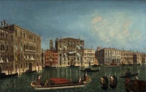Antonio Canaletto, The Grand Canal, Venice with Palazzo Foscari and Palazzo Balbi (1737)