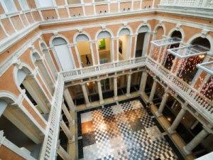 Interior art gallery of the Palazzo Grassi