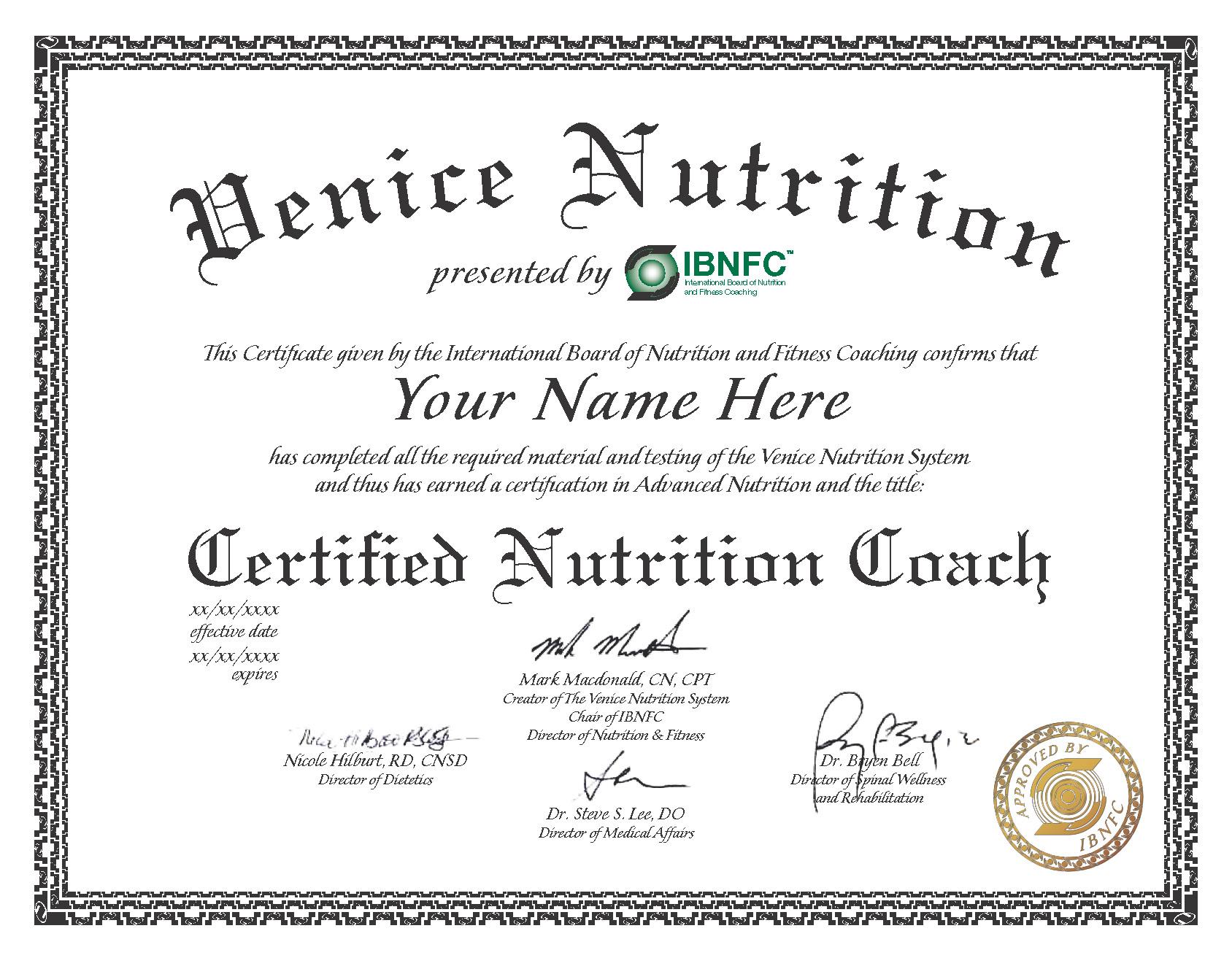 Venice Nutrition For Health Professionals Venice Nutrition