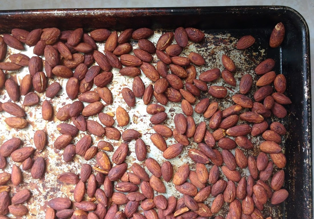 Tamari (or soy sauce) Roasted Almonds