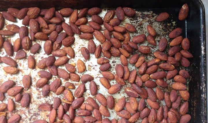 Tamari (or soy sauce) Roasted Almonds
