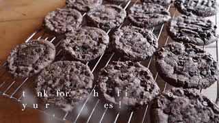Vegan Chocolate Chocolate Cookies