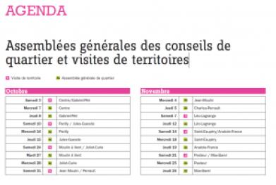 Agenda AG quartiers
