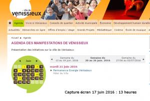 Agenda _ Ville _ Vénissieux - Ville juin2016