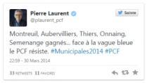 Municipales 2014 Pierre laurent twitter