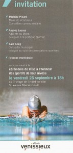 invitation Sport haut niveau Vénissieux
