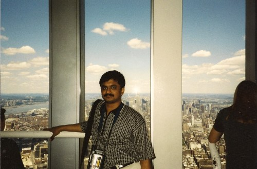 Top of twin towers of World Trade Center