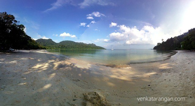 """The Datai bay from """"The Andaman (resort)"""" - A panoramic view"""