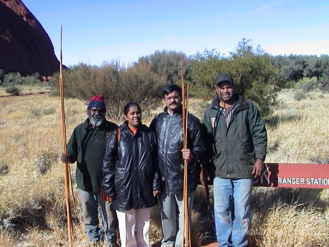 (June 2002) with our aboriginal guides, to the right of me is Anangu man Sammy Wilson